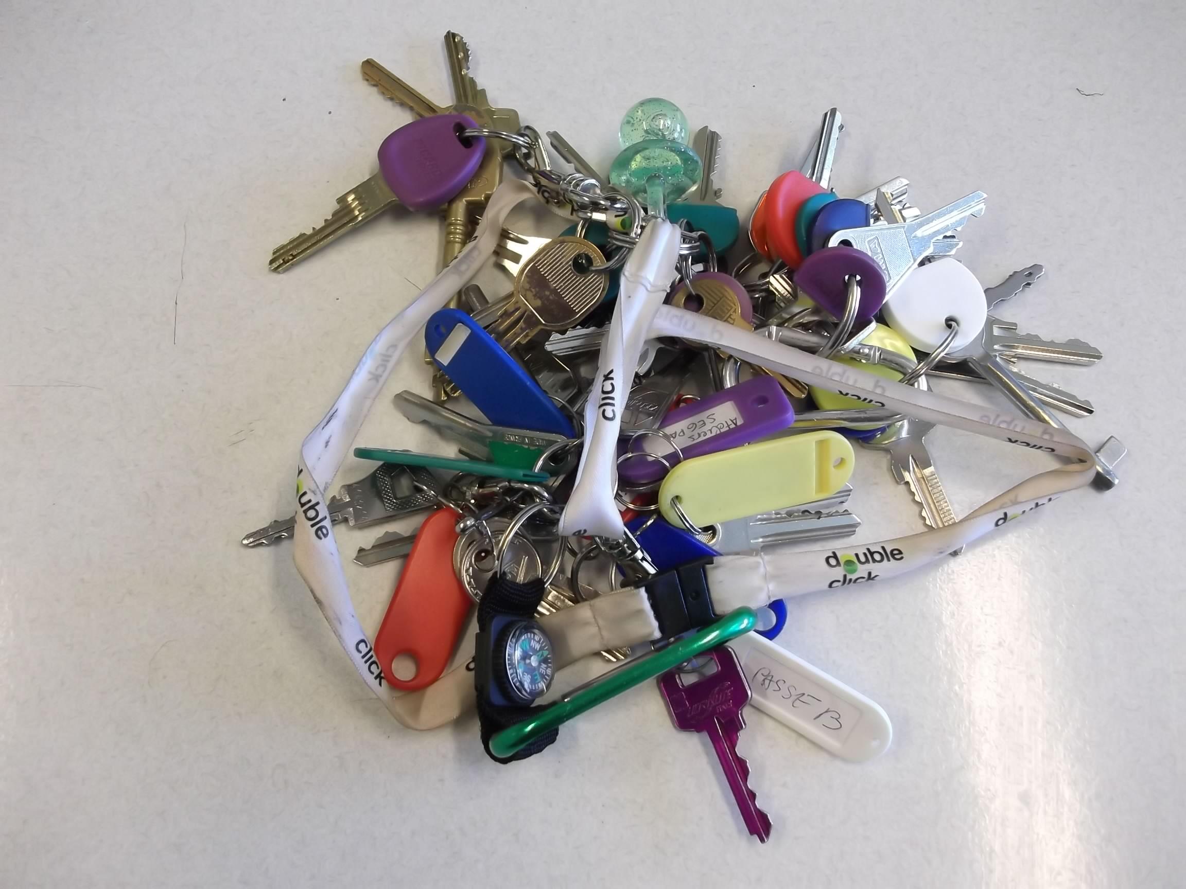 Photo d'un trousseau de clés d'intendant de collège